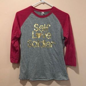 """Self Love Soldier"" baseball tee"
